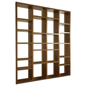 Torero Walnut Bookcase/Room Divider