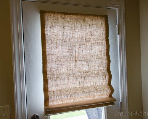 Burlap Roman Shades, Exterior Door, Alpharetta GA - Roman Shades