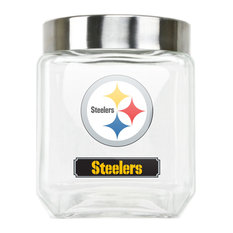 Pittsburgh Steelers Glass Canister - Medium