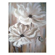 White Flower I Oil Painting