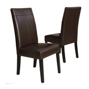 GDF Studio Fitzgerald Chocolate Brown Dining Chairs, Set of 2