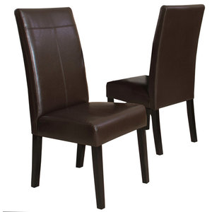 Taylor Contemporary T-Stitch Upholstered Dining Chairs (Set of 2)