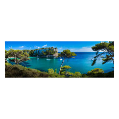 "Menorca Cove, Canvas Giclee, 72""x24"""