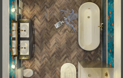 Houzz Voters Pick a Moody Bathroom to Update the CLUEDO Board Game