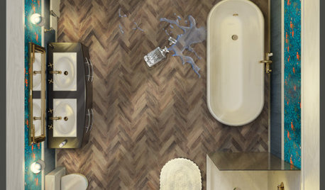 Houzz Voters Pick Moody Bathroom to Update the CLUEDO Board Game