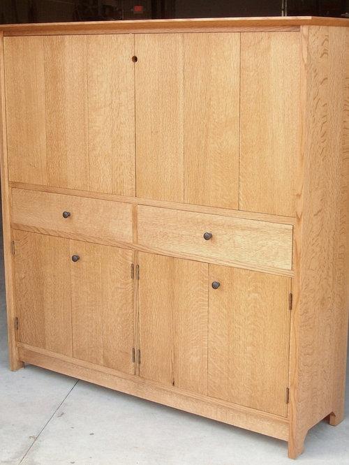 Oak Media Cabinet - 家具