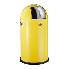 Wesco Pushboy Junior Bin, 22 Litres, Lemon Yellow