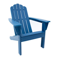 Marina Navy Poly Outdoor Patio Adirondack Chair Made with Recycled Plastic