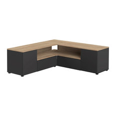 Angle Tv Stand Black/Oak