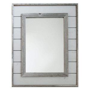 Gray Shiplap Mirror, 36