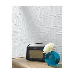 Large Squares Wallpaper. Paintable Wallpaper Border