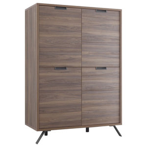 Parma Highboard, Dark Walnut