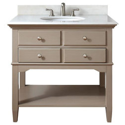 Inspirational Traditional Bathroom Vanities And Sink Consoles by Knobbery Dot Com LLC