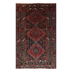 """Oriental Persian Hand Knotted Balouch Area Rug, Multi, 4'2""""x6'7"""""""