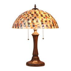"Shelley Mosaic 2-Light Table Lamp 16"""