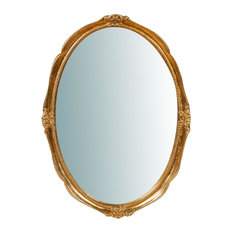 Traditional Wooden Wall Mirror, Antique Gold Leaf, 45x60 cm