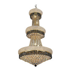 Crystal Chandelier Trimmed With Black Crystal