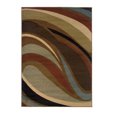 """Harrison Abstract Brown Rug, 7'8""""x10'10"""""""