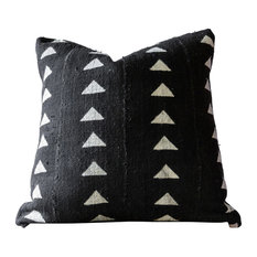 """Tahan African Mud Cloth Pillow, 16""""x36"""", Zipper, Cover Only"""