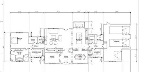 ... (so don\u0027t want to make the space feel cr&ed) and I want to create flow between the two rooms but want more than just columns iding the space.
