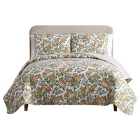 MHF Home Janice Reversible Floral Quilt Set , Multi, Full/Queen