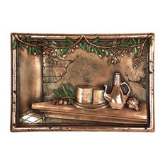 Olives and Cheese Backsplash Mural, Copper