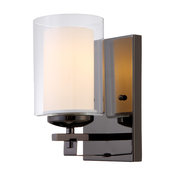 Hardware Hosue El Dorado 1 Light Wall Fixture, Ebony Glaze