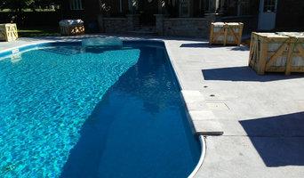 Travertine Paver pool deck