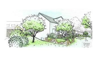 Modern gemütlicher Privatgarten
