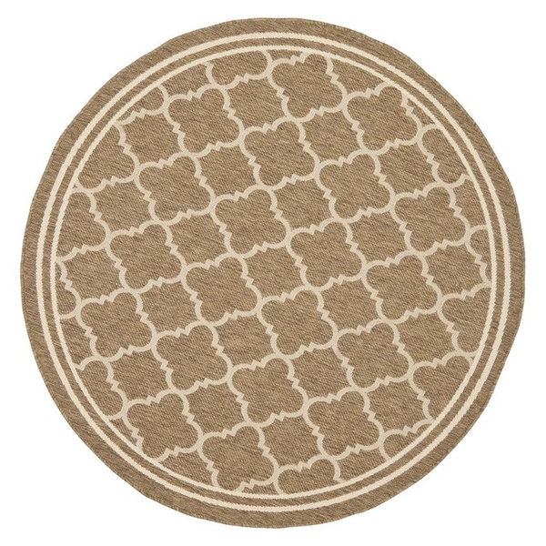 Safavieh Courtyard Cy6918-242 Brown, Bone Area Rug