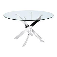 Chrome Dining Room Tables | Houzz
