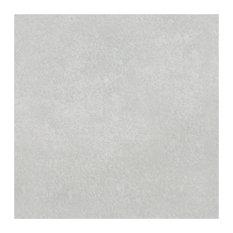 "7.75""x7.75"" Thirties Ceramic Floor/Wall Tiles, Plain Gray"