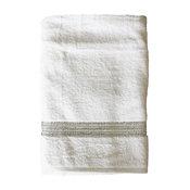 Rhinestone Bath Towel, Stripe, White