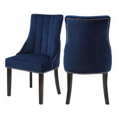 navy blue dining chairs modern color dining meridian furniture oxford velvet dining chair set of 2 navy chairs 50 most popular blue room for 2018 houzz