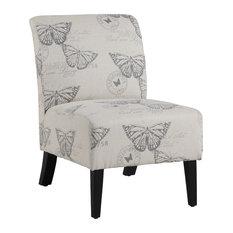 Linen Script Lily Chair, Butterflies