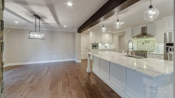 Shaker white and espresso cabinets - Woodlynne Investment Home
