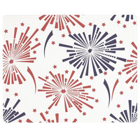 """Vance 15x12 """" July 4th Fireworks Surface Saver Tempered Glass Cutting Board"""