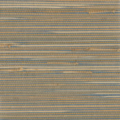 Jissai Mariner Blue Grasscloth Wallpaper, Bolt