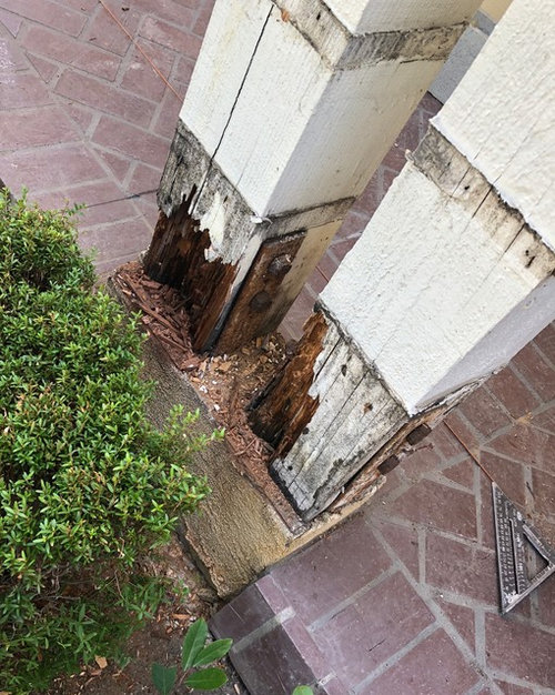 Repair Of Front Porch Column With Rotted Base