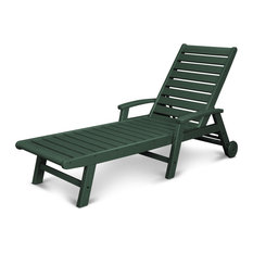 POLYWOOD Signature Chaise With Wheels, Green