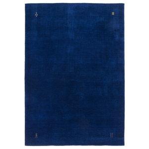 Gabbeh Wool Rug, Blue, 160x230 cm