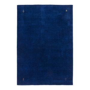 Gabbeh Wool Rug, Blue, 200x290 cm