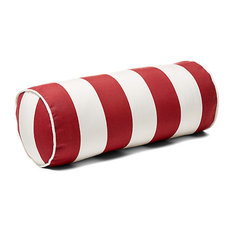 Outdoor Bolster Pillow With Piping, Burgandy