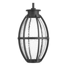 Progress Lighting Pier 33 1-Light, Black LED Hanging Lantern