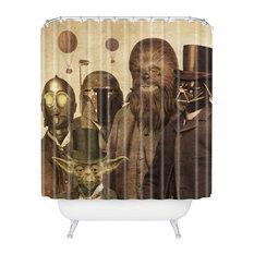 Terry Fan Victorian Wars Shower Curtain