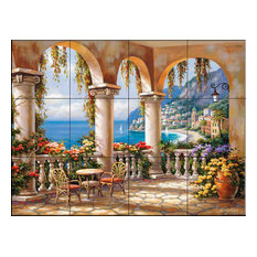 Tile Mural, Terrace Arch I by Sung Kim