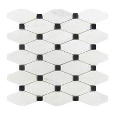Octave Carrara With Black Dot Mosaic, Sample