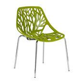 Edgemod Birds Nest Dining Side Chair, Green