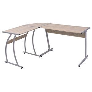 VidaXL L-Shaped Corner Desk, Oak