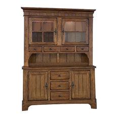 Liberty   Liberty Furniture Treasures Complete China, Rustic Oak Finish   China  Cabinets And Hutches
